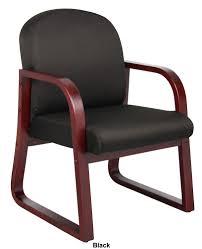 100 Reception Room Chairs Brown Boss B9570 Mahogany Wood Office Waiting Chair