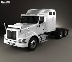 International 9400 Sleeper Cab Tractor Truck 2007 3D Model - Hum3D