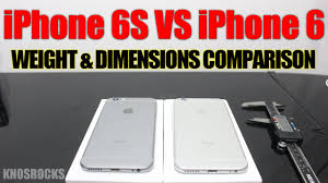 iPhone 6S VS iPhone 6 parison Weight & Dimensions Thickness