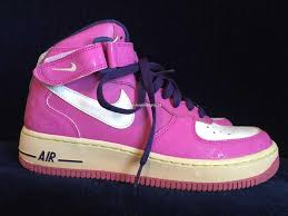 E8790000001044 Vintage Nike Air Force 1 82 Pink High Top Sneakers Retro Basketball Hip Hop Dance 7