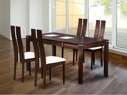 ensemble table chaises ensemble table et 4 chaises salena wengé ou chêne