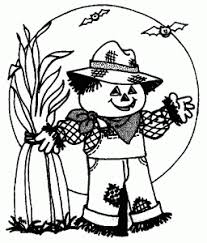 Halloween Coloring Pages For Kids Free Printable Cute Scarecrow