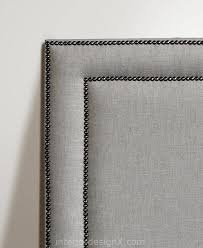 Black Leather Headboard With Crystals by Best 25 Studded Headboard Ideas On Pinterest Nailhead Headboard