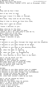 1979 The Smashing Pumpkins Tab by Bob Dylan Song I Believe In You Lyrics And Chords