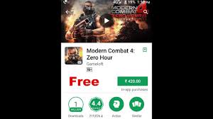 how to modern combat 4 zero hour for free on any