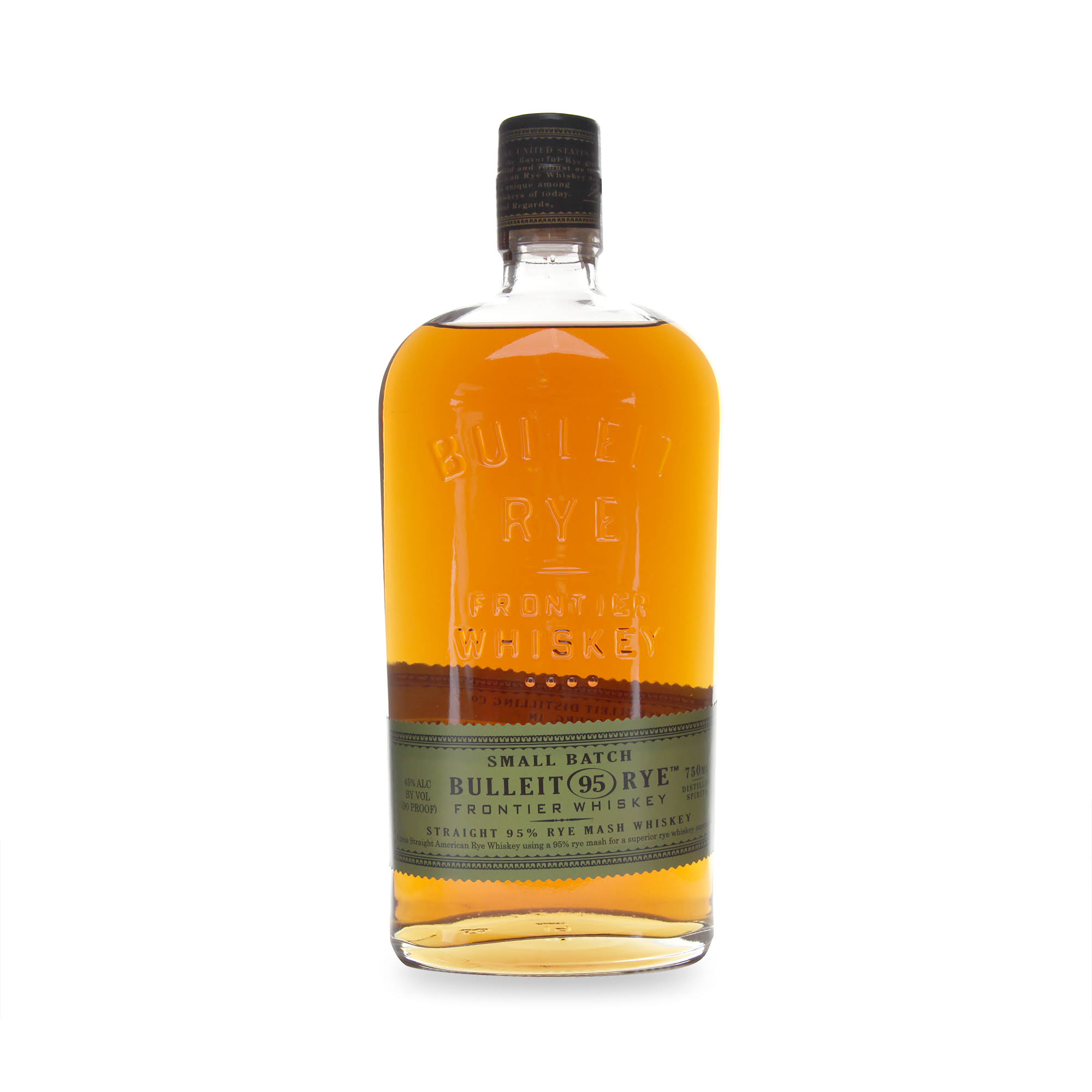 Bulleit Whiskey, Straight 95% Rye Mash - 750 ml