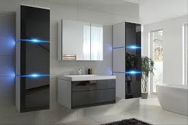 badmöbel set new schwarz hochglanz weiß keramik waschbecken badezimmer led beleuchtung badezimmermöbel keramikbecken