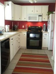 Painting My Kitchen Red On Two Opposite Walls The Cabinets Are NOT White So Black DecorRed