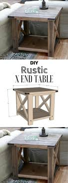 Check Out The Tutorial For An Easy Rustic DIY End Table Istandarddesign