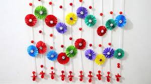 Paper Wall Hanging Ideas Craft For Room Decoration Throughout With