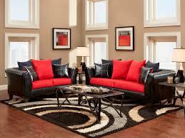 remarkable decoration red and black living room decor opulent