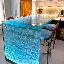 104 Glass Kitchen Counter Tops Bar Table Thinkglass Upright