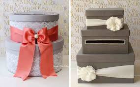 Champagne White Lace Holder Custom Made Card Elegant Wedding Gift Table Box