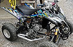 kit deco 250 raptor kit déco kit déco adhésif motos et nikkodesign