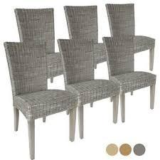 furniture stuhl lehnstuhl 2x esszimmerstuhl savona rattan
