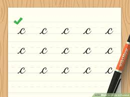 How to Write in Cursive with Sample Alphabet