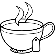 tea clipart black and white 1