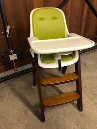 High Chair With Wooden Legs And Green/white Seat Adjustable | In Redland,  Bristol | Gumtree