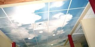 kitchen fluorescent light cover sky decorative fluorescent light