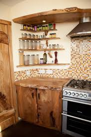 Distressed Wood Shelves Kitchen Rustic With Open Natural