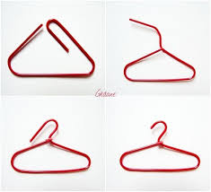 Mini Clothes Hanger With A Paperclip