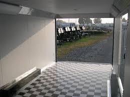 Checkerboard Vinyl Flooring For Trailers by Carmate 8 5 X 24 Enclosed Car Trailer Custom Interior