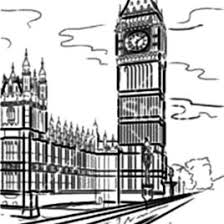 London Clock Tower And Thames River Coloring Pages NetArt