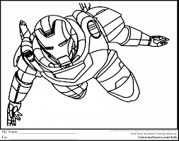 Marvelous Avengers Coloring Pages With Superhero And For Kindergarten