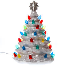Plastic Bulbs For Ceramic Christmas Trees by Light Up Nostalgic Ceramic Christmas Tree Christmas