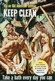 Soldiers Were Asked To Uphold The Old American Custom Of Daily Showers In This