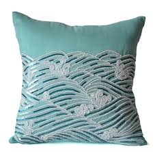 Spring Throw Pillows Decorative Pillow Cover Teal Throw Pillows