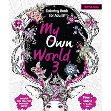 My Own World Coloring Book Download For Adults Travel Size