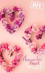 Diy Flower Heart Wreath Top Easy Interior Design