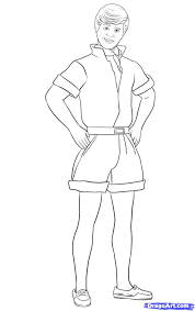 Barbie Ken Coloring Pages With Toy Story 3 Jpg 907 1438 Coloriage