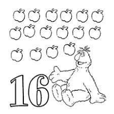 Count The Apples Fruits With Different Faces Coloring Pages