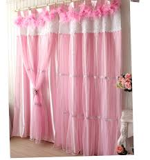 Pink And Purple Ruffle Curtains by Luxury Girls Lace Ruffle Tulle Bowtie Princess Curtains And Neck