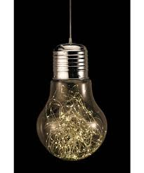 clear light bulb with lights