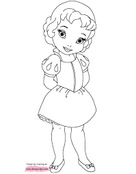 Ba Disney Princess Coloring Pages Printable For Pretty Great Baby Best Of All