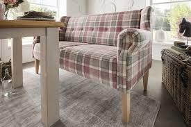 natur paul 3 sitziges dining sofa rosa kariert möbel