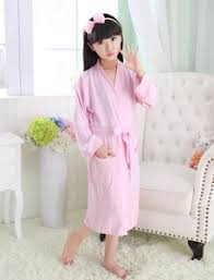 Childrens Bathrobe Cotton Towel Material Swimming Summer Thin Bamboo Fiber Waffle Cute Short Sleeve Robe
