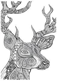 Printable Inspirational Coloring Pages Free Sheets Adult Deer
