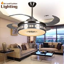 Luxury Ceiling Fan Lights Modern Fans 42 Inches 5 Invisible Acrylic Blade Living Room Bedroom Dining LED SMD