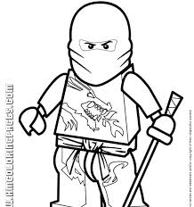 Coloring Pages The Red Ninja In Fun Lego Ninjago Kai Zx