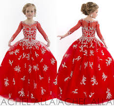 2017 toddler wedding crystals tulle cheap girls pageant ball gowns