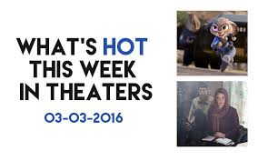 Whats Hot This Week In Theaters Zootopia