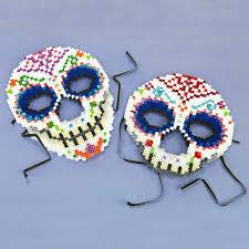 Halloween Perler Bead Patterns by Sugar Skull Masks Perler Beads