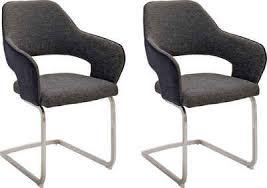mca furniture freischwinger newcastel 2er set stuhl belastbar bis 120 kg