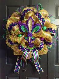 Burlap Mardi Gras Door Decorations by 345 Best Mardi Gras Wreaths Images On Pinterest Mardi Gras