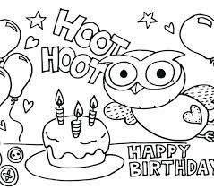 Trend Happy Birthday Coloring Page Crayola Pages For Kids Bo