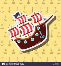 100 Design A Pirate Ship Nautical Maritime Design Anchor Yellow Background Pirate